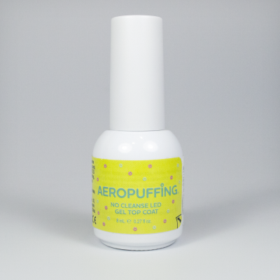 Aeropuffing No Cleanse LED Gel Top Coat, 8 ml.