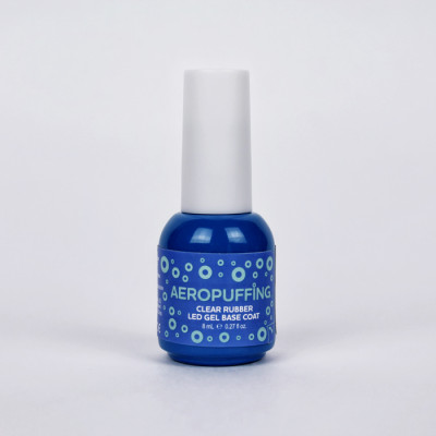 Aeropuffing Clear Rubber LED Gel Base Coat, 8 ml.