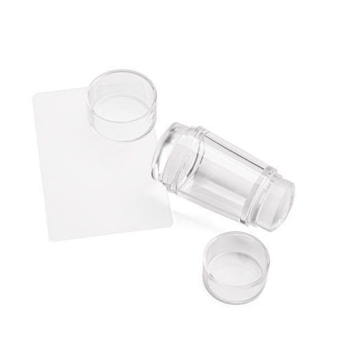Aeropuffing, Double-sided Clear Silicone Stamper + Scraper