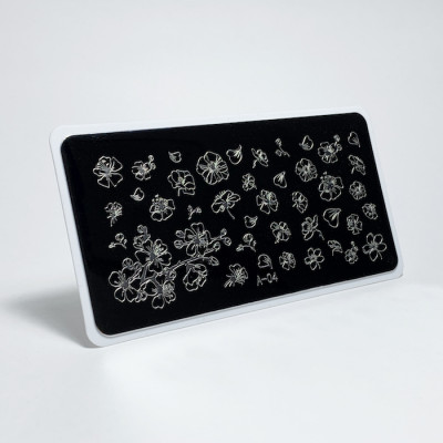 Aeropuffing, Stamping Plate, A-04 FLOWERS