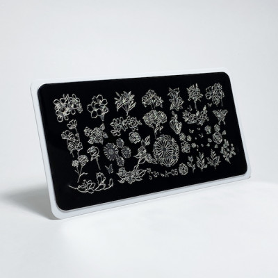 Aeropuffing, Stamping Plate, A-05 FLOWER MIX