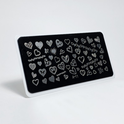 Aeropuffing, Stamping Plate, A-11 HEARTS
