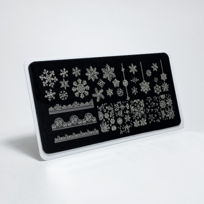Aeropuffing, Stamping Plate, A-13 SNOWFLAKES