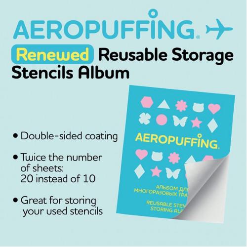 Aeropuffing Reusable Stencils Storage Album